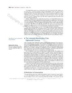 Eighteenth Century. A Revolution in Consumption