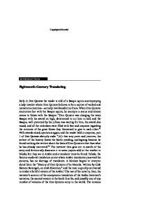 Eighteenth-Century Translating