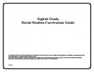 Eighth Grade Social Studies Curriculum Guide