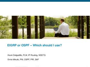 EIGRP or OSPF Which should I use?