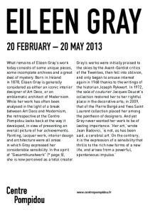 EILEEN GRAY 20 FEBRUARY 20 MAY 2013