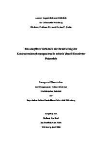 Ein adaptives Verfahren zur Ermittelung der Kontrastwahrnehmungsschwelle mittels Visuell Evozierter Potenziale