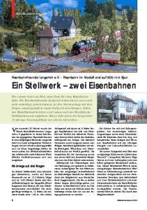 Ein Stellwerk zwei Eisenbahnen