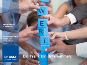 Ein Team. Ein Unternehmen
