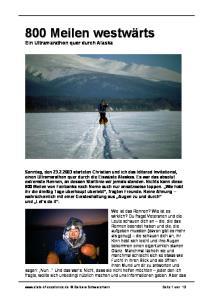 Ein Ultramarathon quer durch Alaska