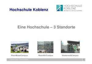Eine Hochschule 3 Standorte