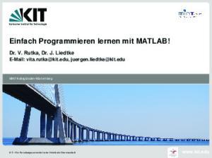Einfach Programmieren lernen mit MATLAB!