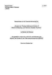 Einsatz von Varianzreduktionstechniken II : Stratified Sampling und Common Random Numbers