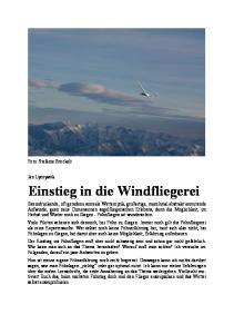 Einstieg in die Windfliegerei