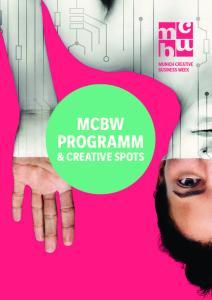 Einstieg MCBW. & Creative Spots