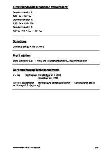 Einwirkungskombinationen (vereinfacht) Sonstiges. Profil wählen. Gerbrauchstauglichkeitsnachweis