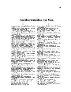 Einwohnerverzeichnis von Stein