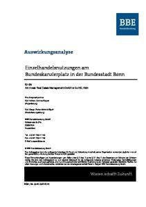 Einzelhandelsnutzungen am Bundeskanzlerplatz in der Bundesstadt Bonn