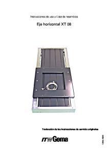 Eje horizontal XT 08