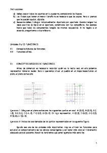 Ejercicio 2: Indica las coordenadas de los puntos representados en la siguiente figura