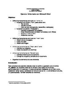 Ejercicio: Editar texto con Microsoft Word