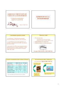 EJERCICIO EN LA OSTEOPOROSIS