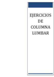 EJERCICIOS DE COLUMNA LUMBAR