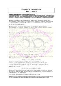 Ejercicios de Entrenamiento Nivel 1 - Serie 1
