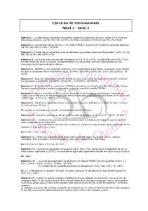 Ejercicios de Entrenamiento Nivel 1 - Serie 2