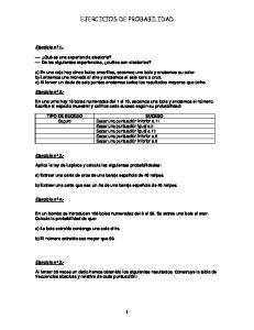 EJERCICIOS DE PROBABILIDAD
