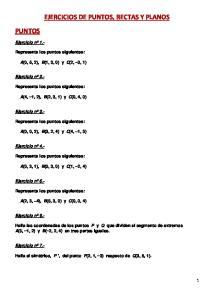 EJERCICIOS DE PUNTOS, RECTAS Y PLANOS PUNTOS