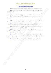 EJERCICIOS DE VARIACIONES