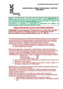 EJERCICIOS PAU UMBRAL RENTABILIDAD PUNTO DE EQUILIBRIO
