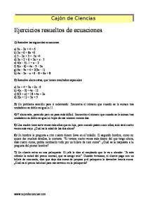 Ejercicios resueltos de ecuaciones