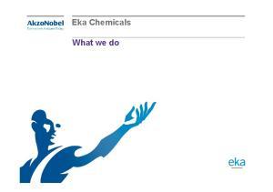 Eka Chemicals. What we do