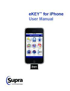 ekey for iphone User Manual