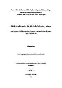 EKG-Studien der TASK-1-defizienten Maus