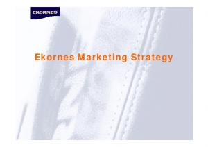 Ekornes Marketing Strategy