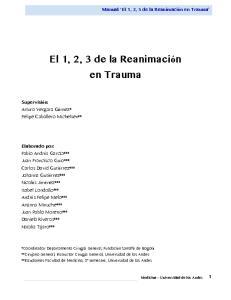 El 1, 2, 3 de la Reanimación en Trauma