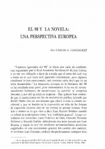 EL 98 Y LA NOVELA: UNA PERSPECTIVA EUROPEA