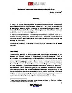 El abandono en la escuela media en la Argentina ( ) Resumen