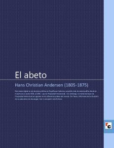 El abeto. Hans Christian Andersen ( )