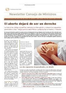 El aborto dejará de ser un derecho