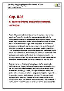 El abstencionismo electoral en Baleares