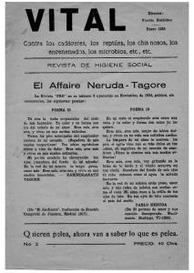 El Affaire Neruda- Tagore