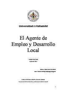 El Agente de Empleo y Desarrollo Local