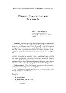 El agua en China: las dos caras de la moneda