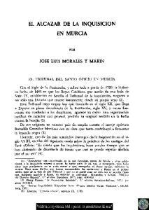 EL ALCÁZAR DE LA INQUISICIÓN EN MURCIA