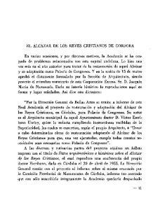 EL ALCAZAR DE LOS REYES CRISTIANOS DE CORDOBA