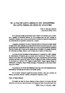 EL ALTAR DE SANTA LIBERATA DEL MONASTERIO DE SANTA TERESA DE JESUS DE AY ACUCHO