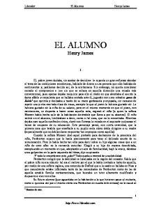 EL ALUMNO Henry James