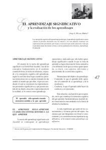 EL APRENDIZAJE SIGNIFICATIVO y la evaluación de los aprendizajes
