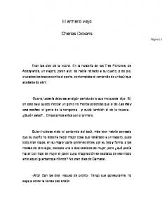 El armario viejo. Charles Dickens
