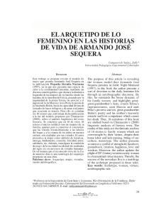 EL ARQUETIPO DE LO FEMENINO EN LAS HISTORIAS DE VIDA DE ARMANDO JOSÉ SEQUERA