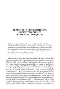 EL ARTE DE LA GUERRA MEDIEVAL: COMBATES DIGITALES Y EXPERIENCIAS DE JUEGO